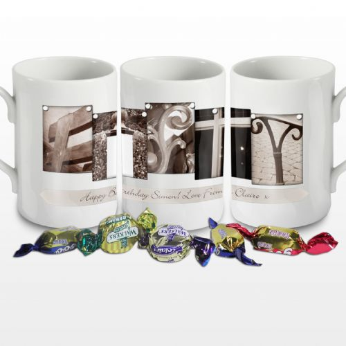 Personalised Affection Art Fifty Mug